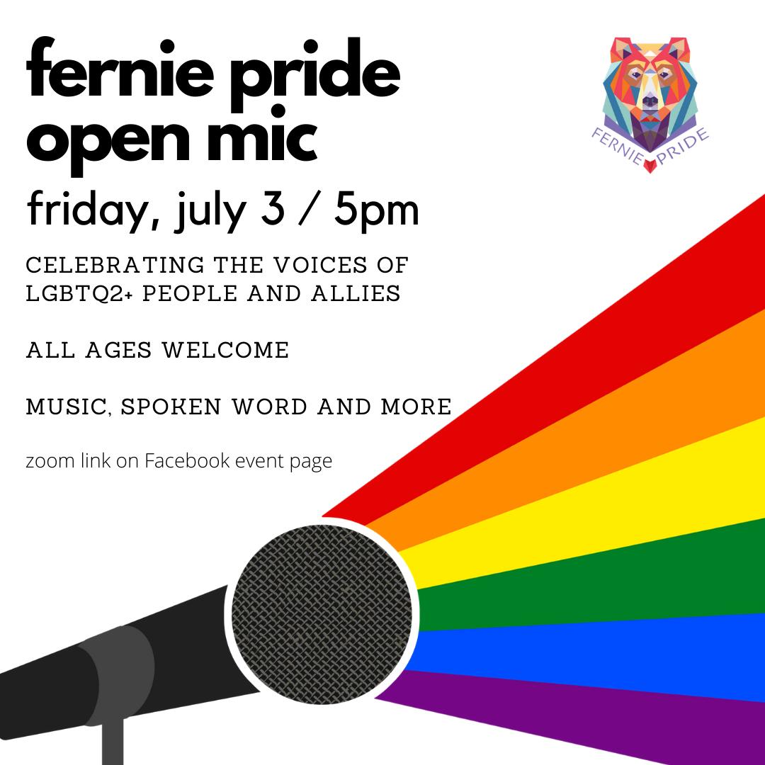 fernie pride open mic